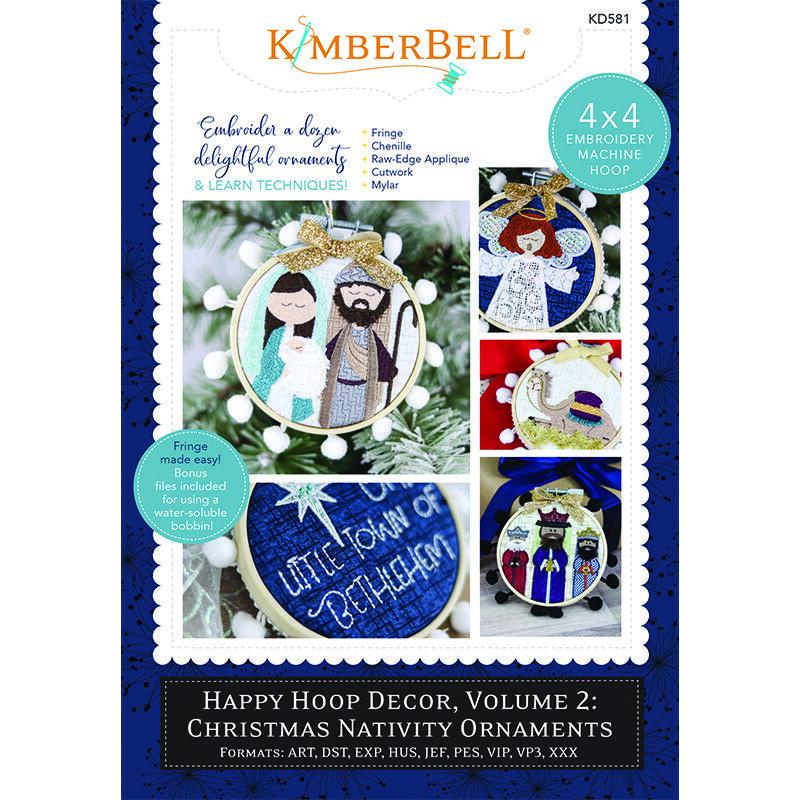 Christmas Nativity Ornaments by Kimberbell  Vol 2 -KIT w/ 6 -2 pack Bamboo Hoops