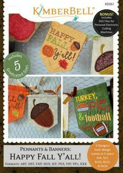 PENNANTS & BANNERS ME CD HAPPY FALL Y'ALL!  by KIMBERBELL