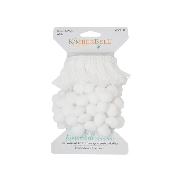 KIMBERBELL TASSELS & POMS TRIM – WHITE