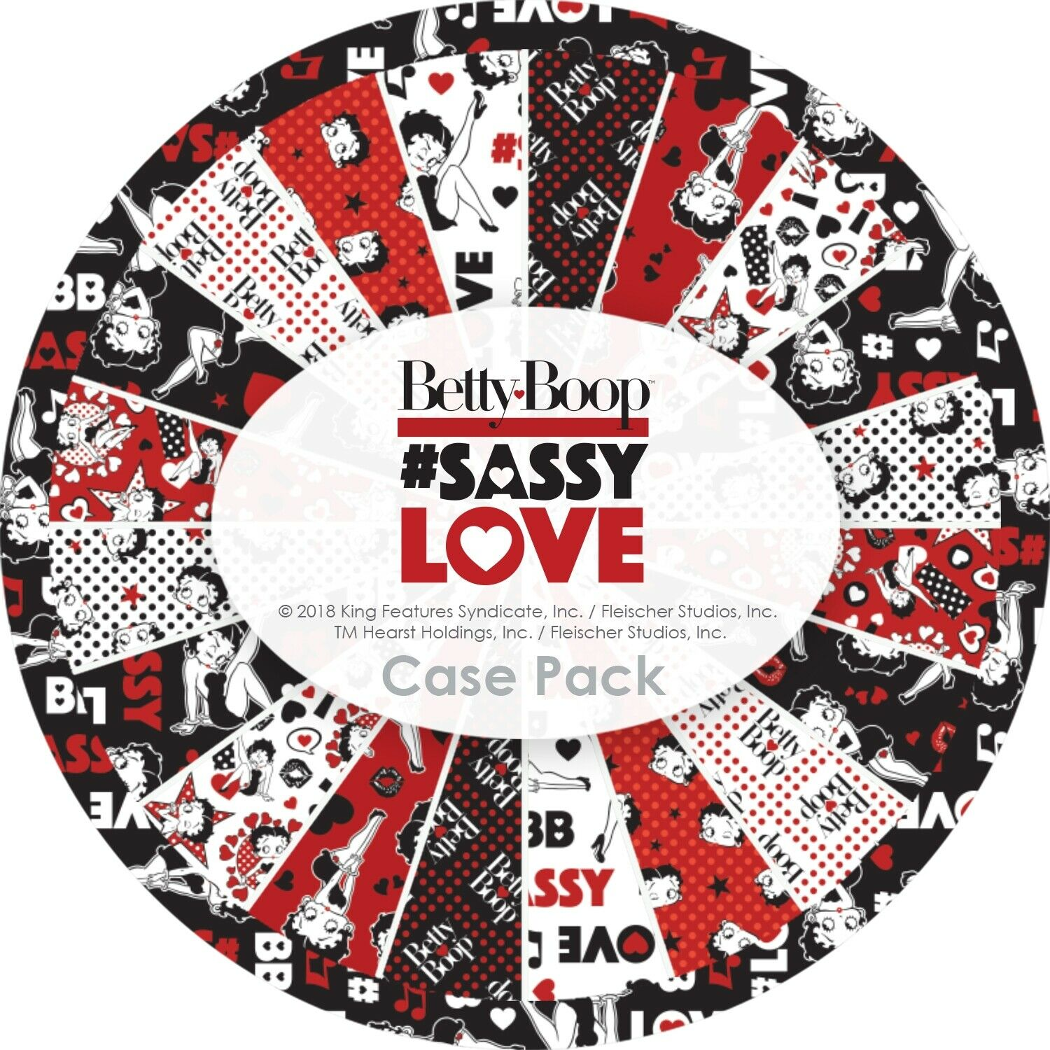 BETTY BOOP SASSY LOVE COLLECTION BY CAMELOT FABRICS (40) 2.5 FABRIC STRIPS