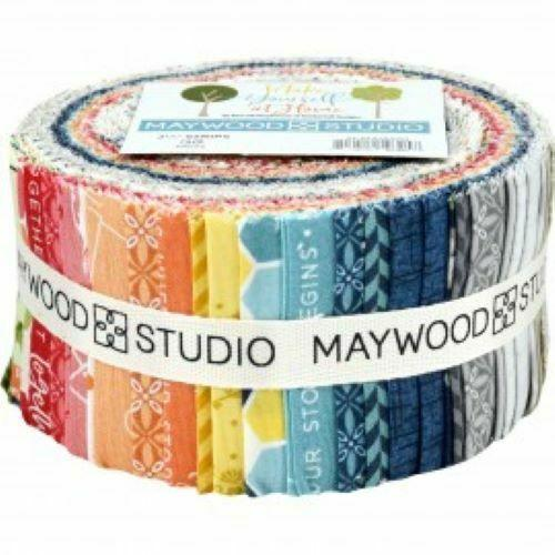 MAYWOOD STUDIO MAKE YOURSELF AT HOME- 2.5 STRIPS FABRIC ROLL