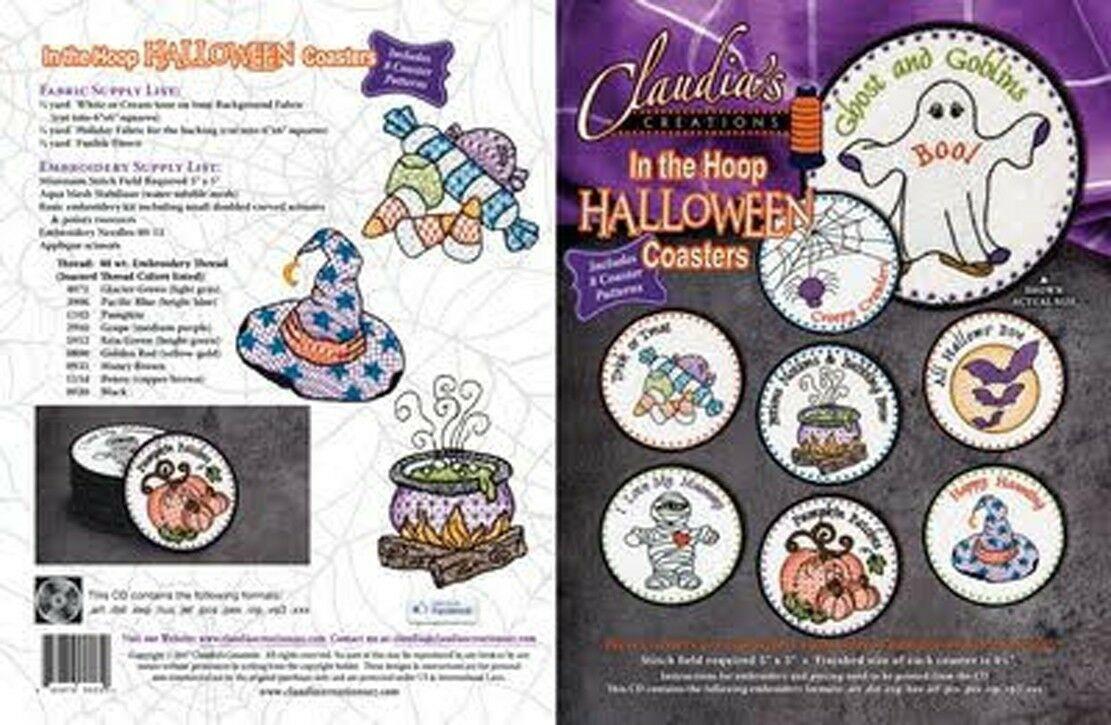 Claudia's Creations, LLCHalloween Coasters