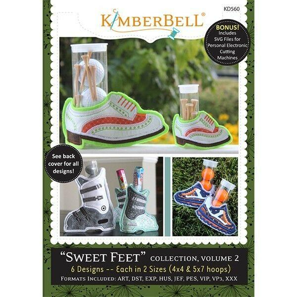KIMBERBELLSWEET FEET COLLECTION, VOLUME 2 EMBROIDERY CD