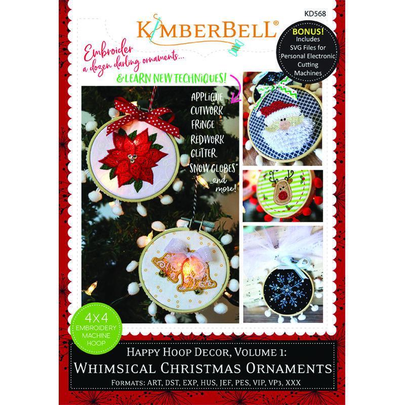 KIMBERBELL (KIT) WHIMSICAL CHRISTMAS ORNAMENT ME CD w/ BAMBOO HOOPS (SET OF 2)