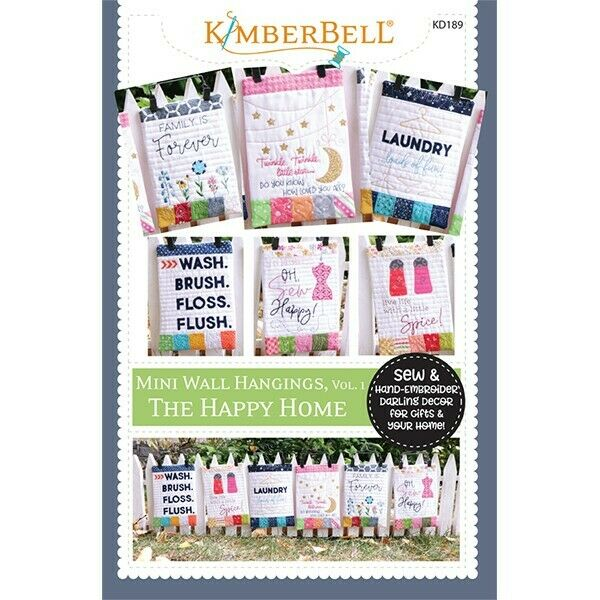 KIMBERBELL MINI WALL HANGINGS, VOL.1 THE HAPPY HOME SEWING VERSION