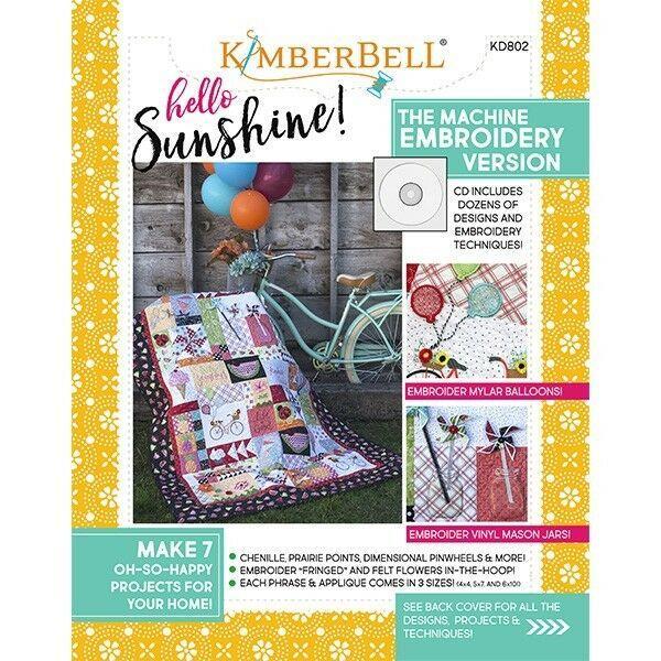 KIMBERBELLHELLO SUNSHINE! MACHINE EMBROIDERY CD WITH BOOK