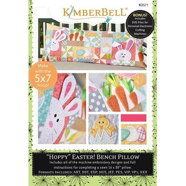 Kimberbell Designs Hoppy Easter! Bench Pillow ME KD571