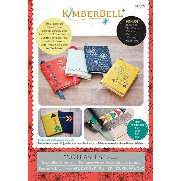 KIMBERBELL NOTEABLES VOL 1 MACHINE EMBROIDERY CD