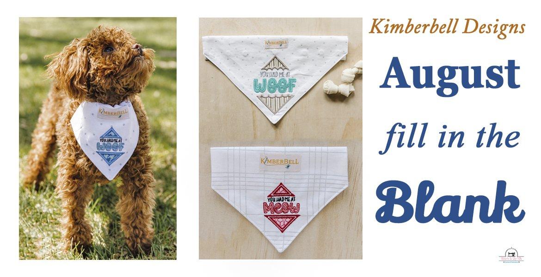 August FIB By Kimberbell Pet Kerchiefs OS