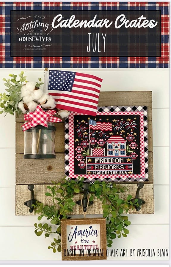 Stitching with the Housewives Calandar Crates Monthly Cross Stitch Patterns