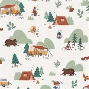Camp Woodland Fabric by Riley Blake Off White SBY