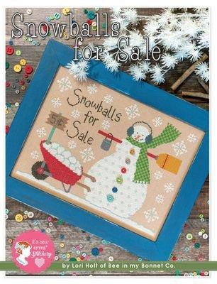 Snowballs For Sale Cross Stitch Pattern by Lori Holt