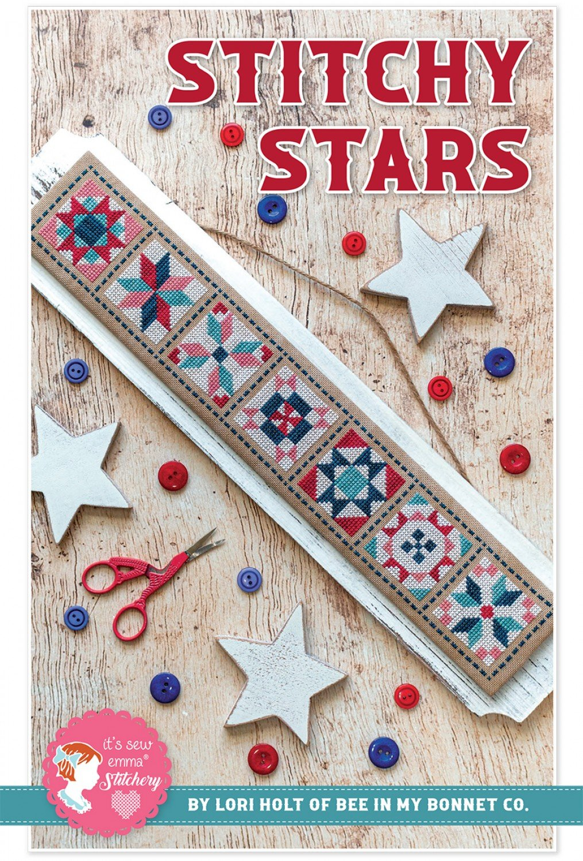 Stitchy Stars Cross Stitch Pattern w/ DMC Threads