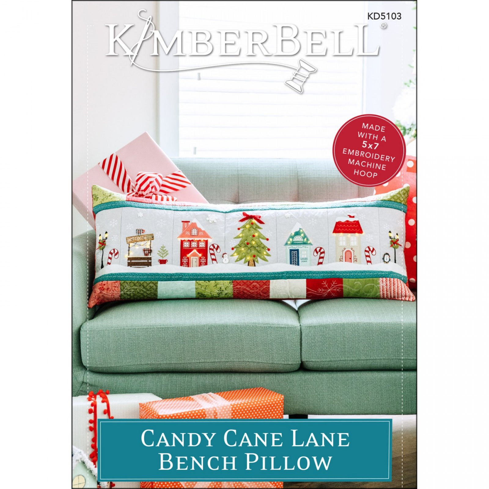 Candy Cane Lane Machine Embroidery CD by Kimberbell