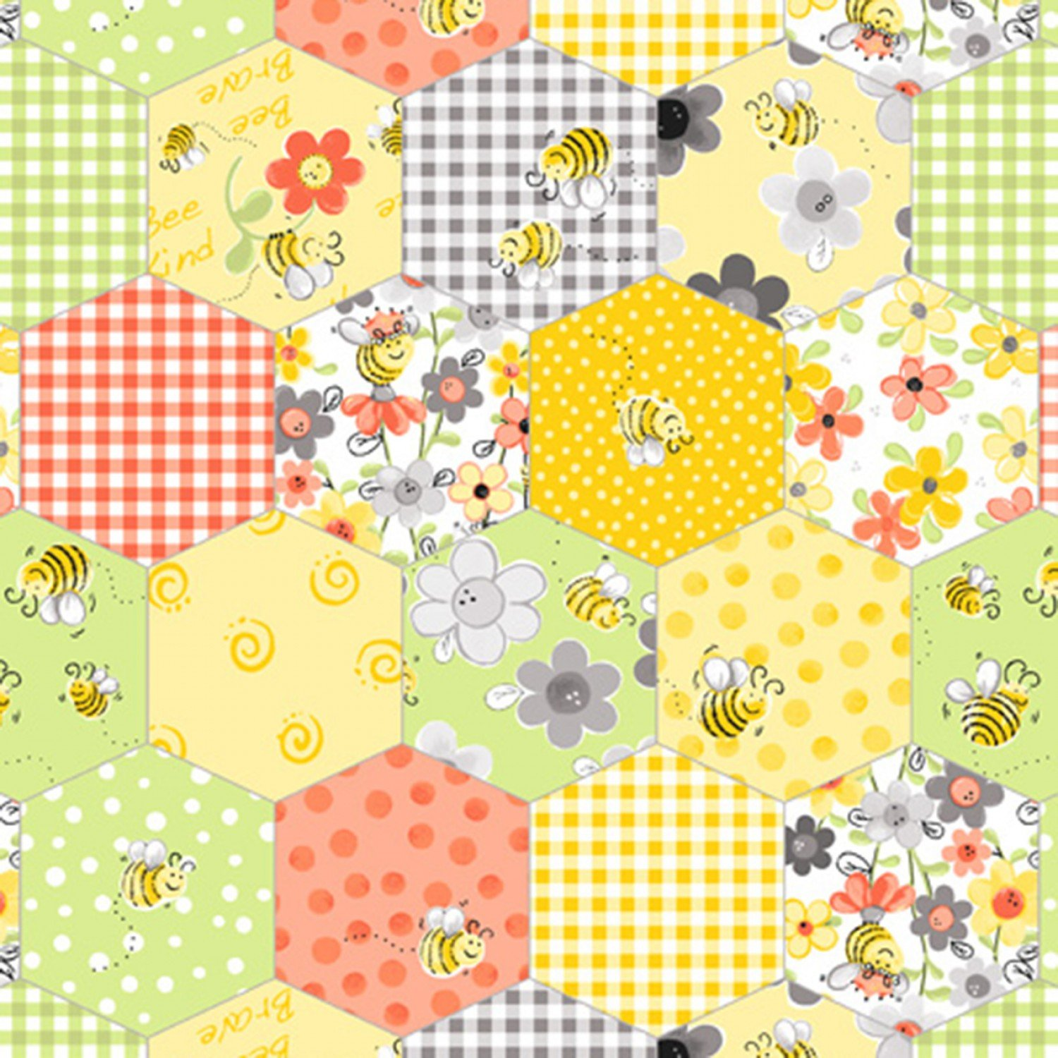 Sweet Bees Fabric by Susybee SBY