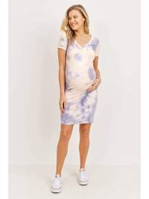 Lilac Tie Dye Maternity Dress