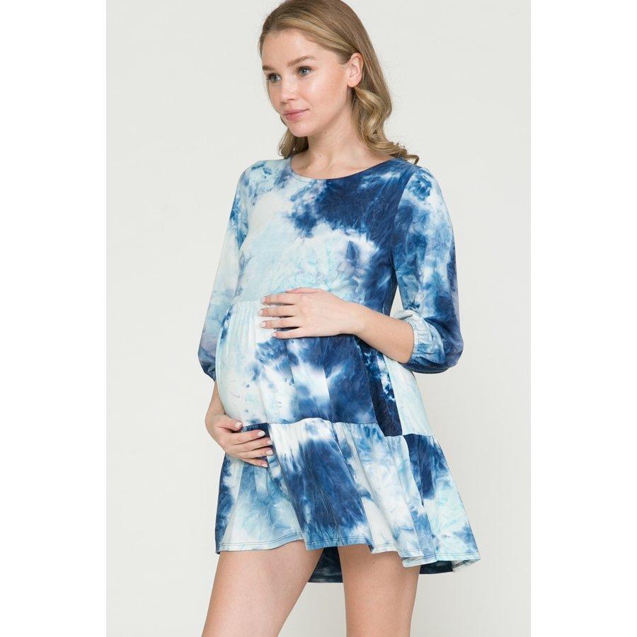 Blue and Mint Tie Dye Dress