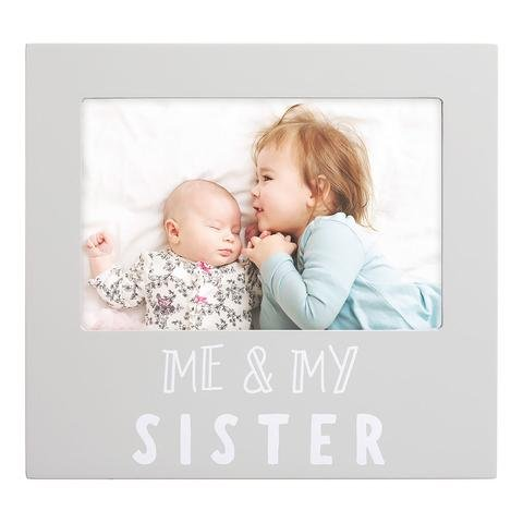 Pearhead - Me And My Sister Sentiment Frame, Gray