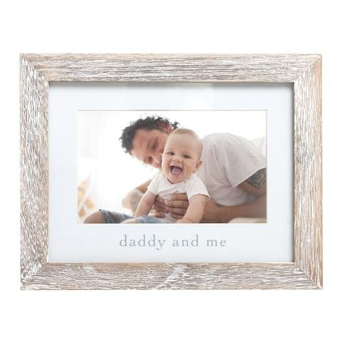 Pearhead - Daddy And Me Sentiment Frame, Rustic