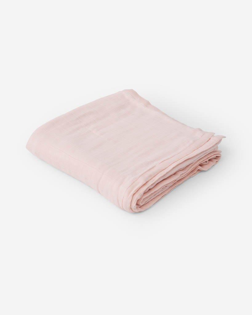 Cotton Muslin Quilt Blush Rose