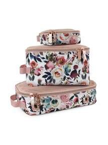 Itzy Ritzy - *New* Blush Floral Packing Cubes Floral Default