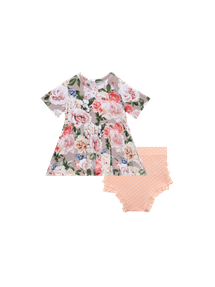 Cassie Short Sleeve Peplum Top And Bloomer 18-24M