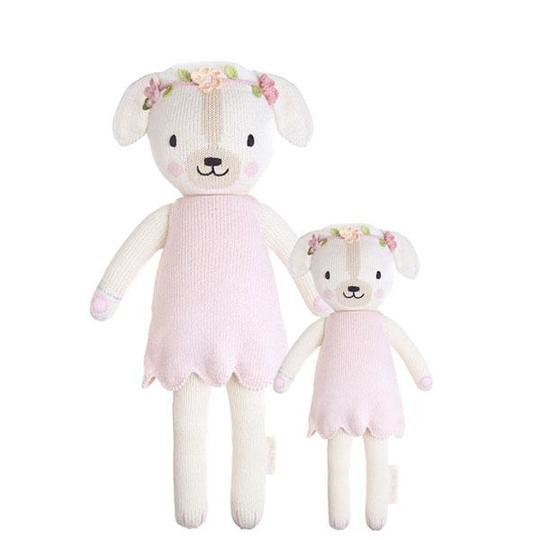 Hand-Knitted Doll- 20in. Charlotte Dog