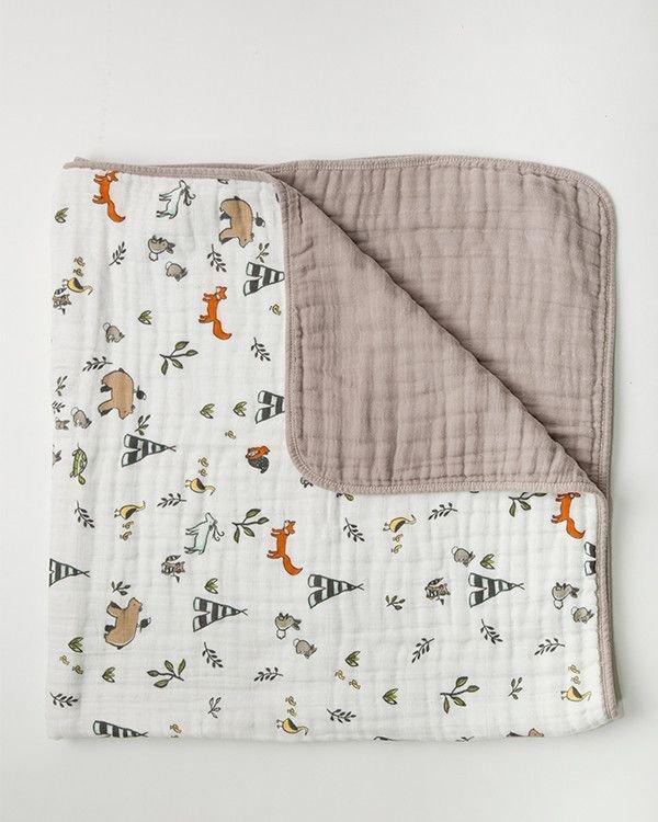 Cotton Muslin Quilt Fox