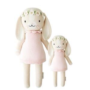 Hand-Knit Dolls-13In Hannah The Bunny Blush