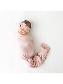 Sweet Pink Infant Swaddle And Headband Sweet Pink