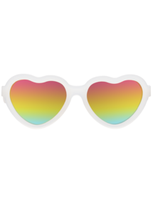 Babiators - Rainbow Bright Mirrored Heart Shaped - Limited Style 3-5Y