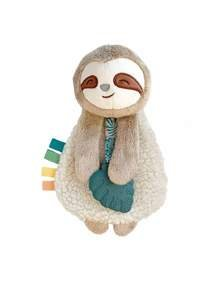 Itzy Ritzy - New Itzy Lovey? Sloth Plush With Silicone Teether Toy