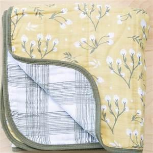 Cotton Muslin Quilt Yellow Bud