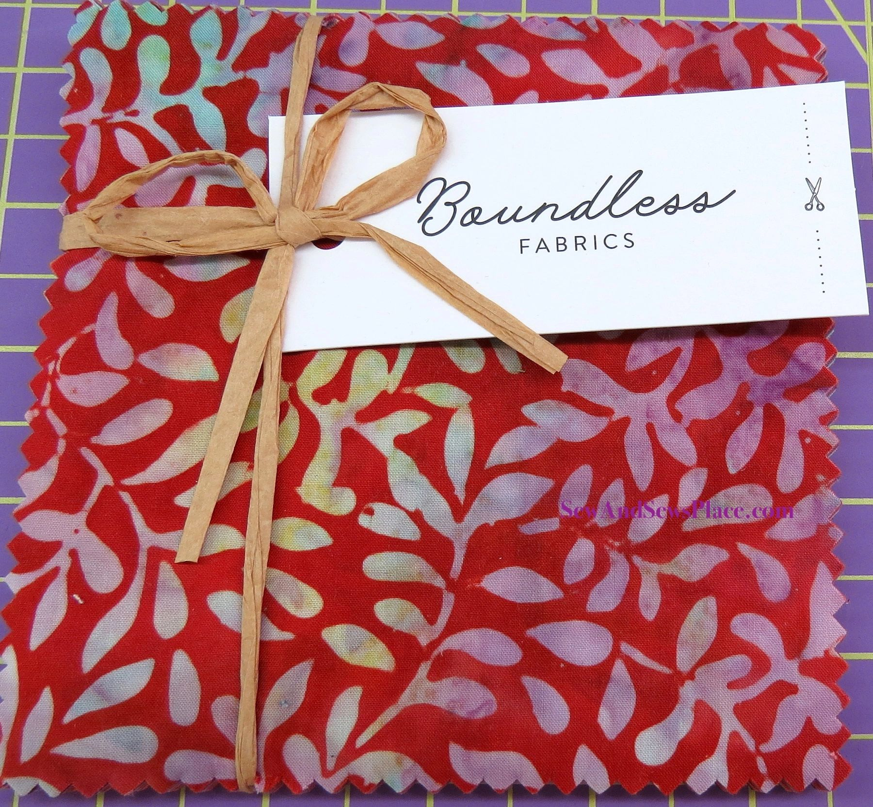 5 Pre-Cut Spark Charm Squares by Boundless Fabrics Batik Multi Colored