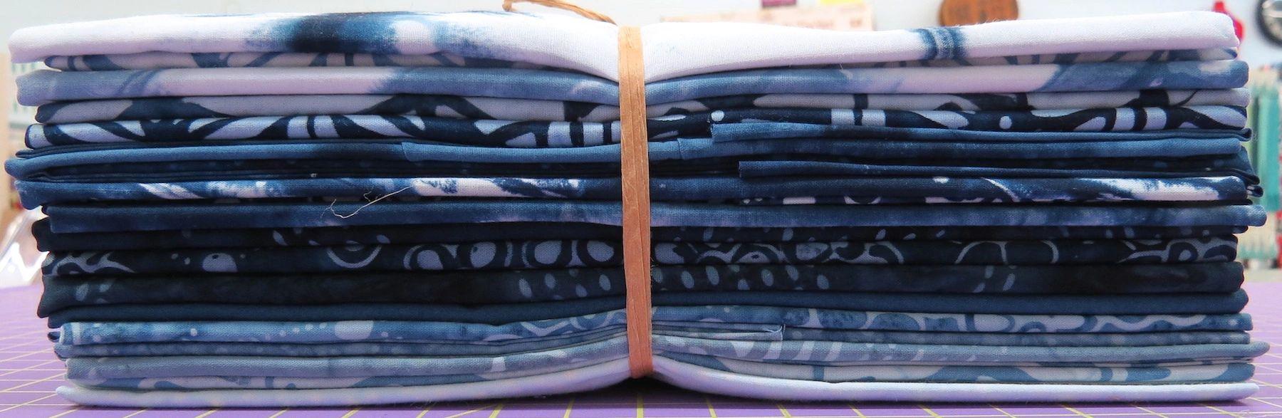 Indigo Batiks Half Yard Cuts 20 Piece Bundle