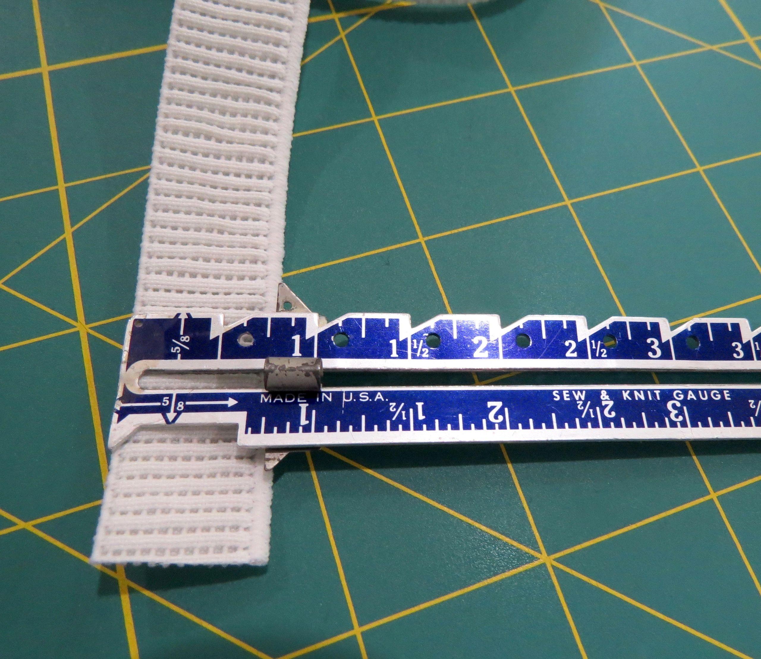 3/4 In White Elastic Non-Roll Woven