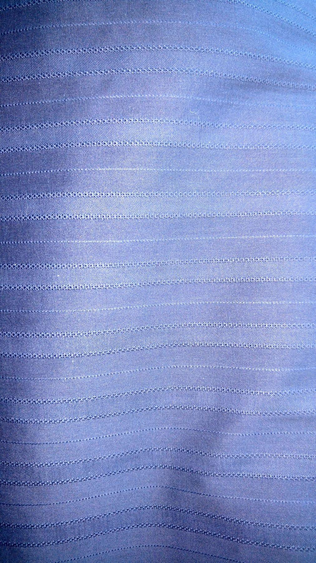 Deep Navy Blue Striped Cotton Jacquard Weave Shirting