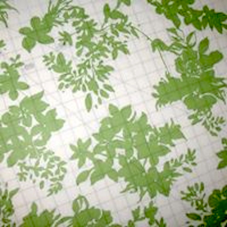 Light Green Floral Chiffon