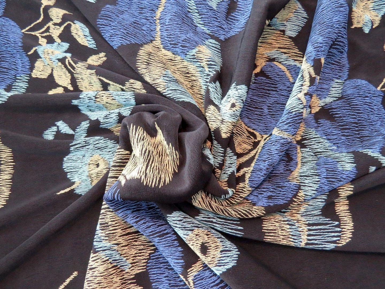 Big Floral Slinky Knit