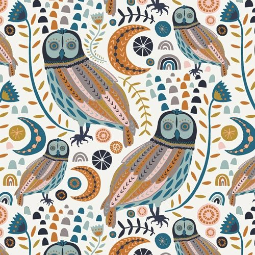 Sova Forester from Little Forester Fusion designed by AGF Studio 100% Cotton