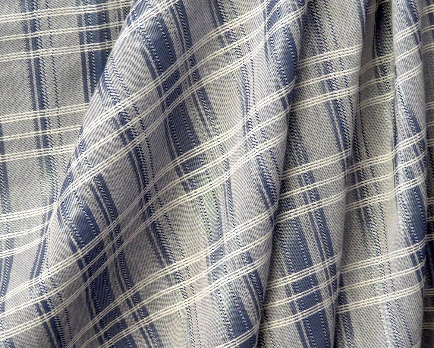 Verona Grelin Blue And Silver Plaid from Italy