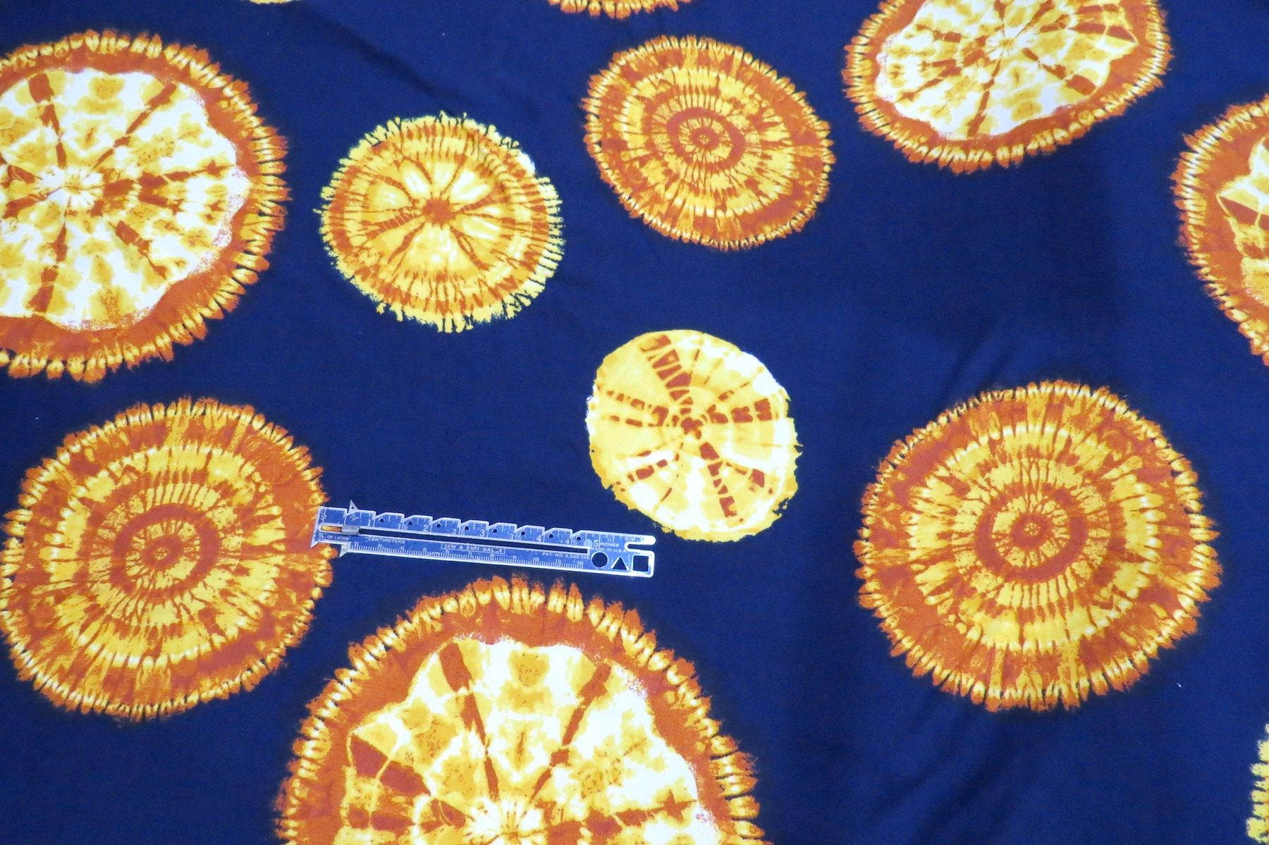 Navy Blue Dandelion Chestnut White Double Brushed Jersey Knit