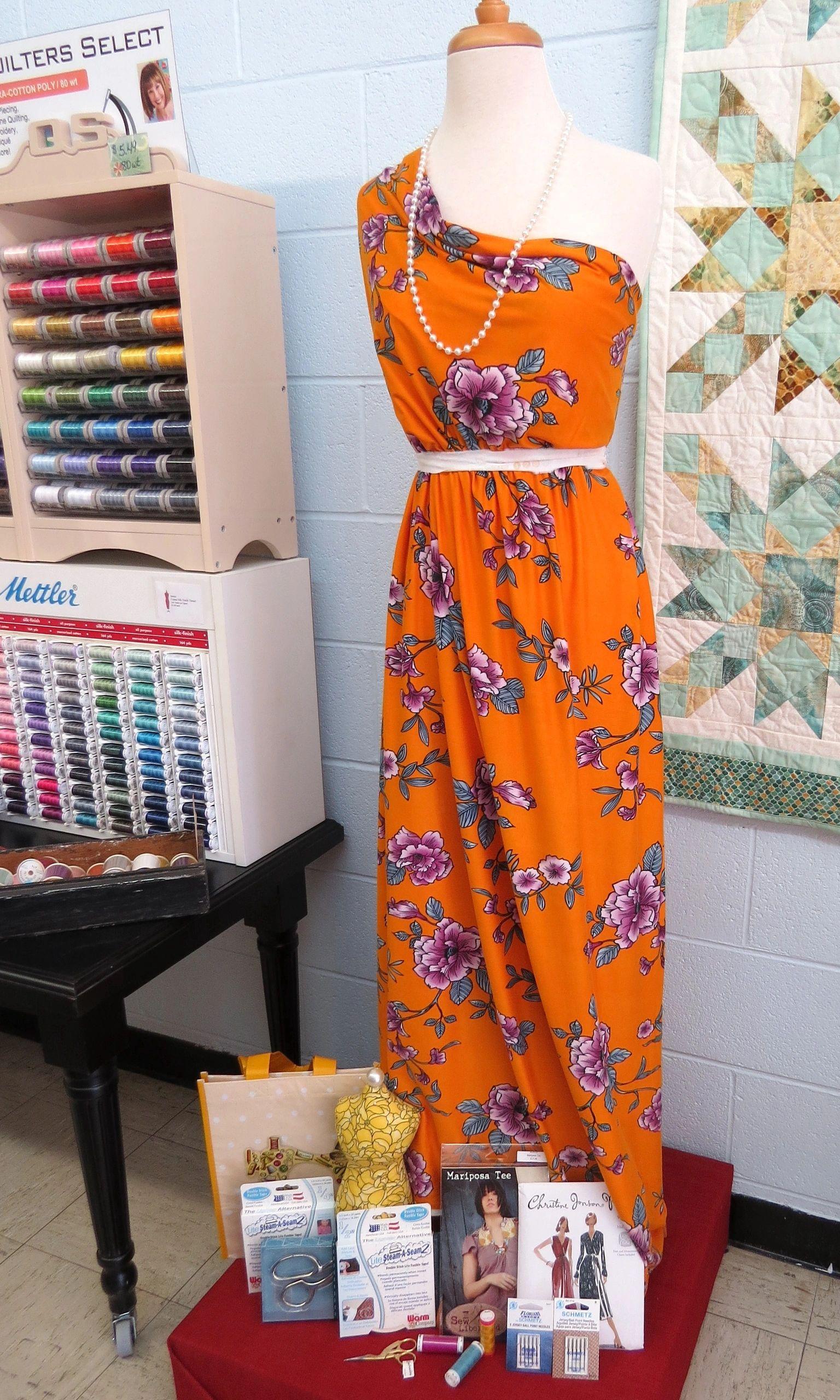 Marigold Mauve Soft Blue Western Floral print Double Brushed Jersey Knit