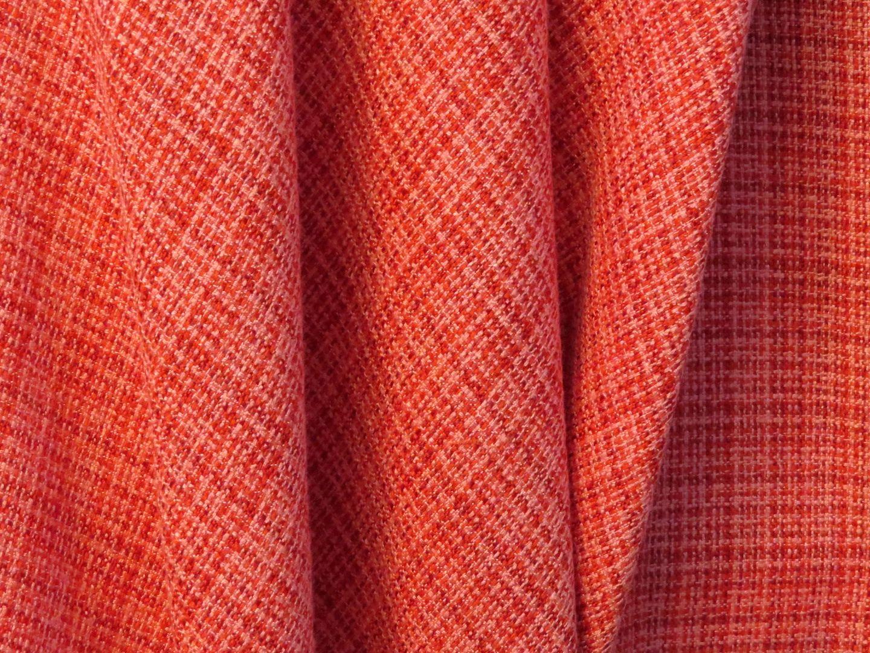 Rich Coral Poly/Rayon Blend