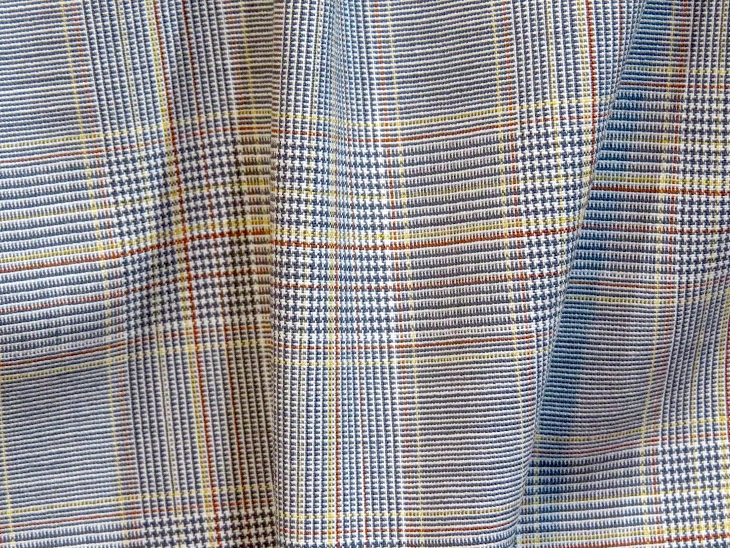 Plaid Tropical Weight Wool/Lycra Blend from Italy
