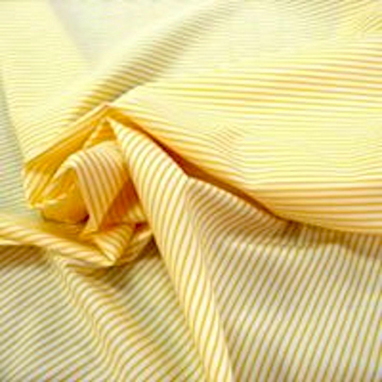 Yellow Striped Cotton Shirting