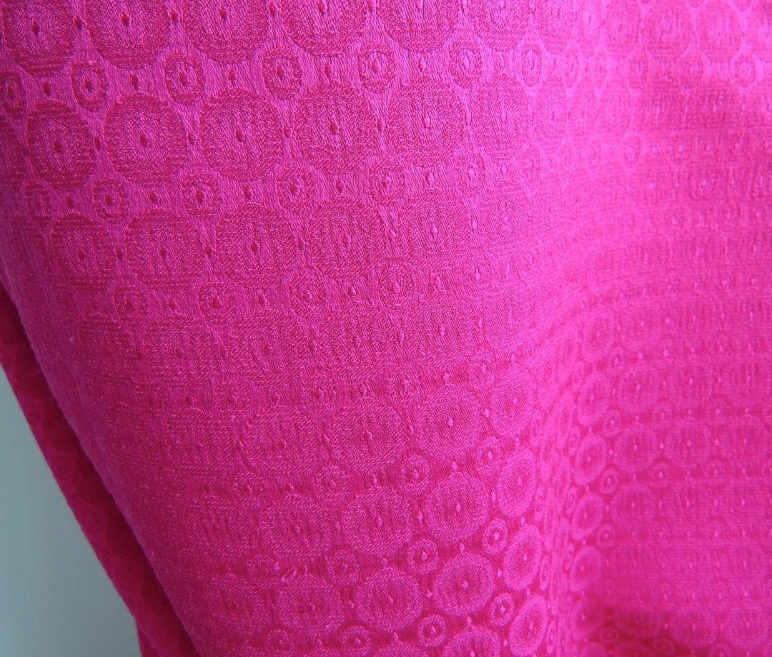 Hot Pink Circles Woven Jacquard