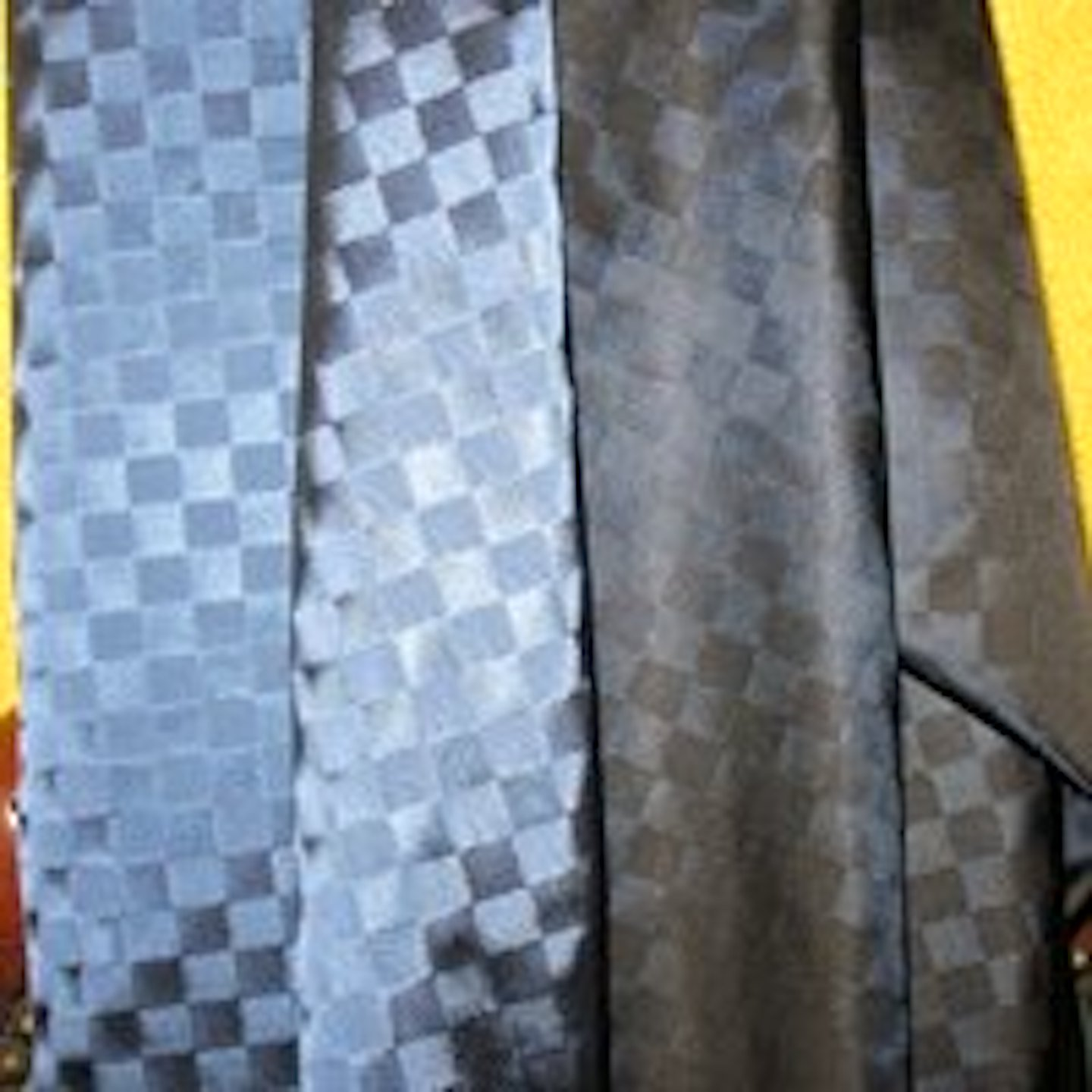 Sapphire Blue Checkerboard Satin Lining, Reversible