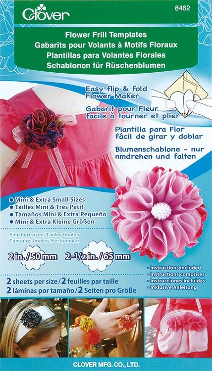 Clover Flower Frill Template, Mini/Extra Small