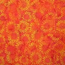 Sunflower Candy Corn Island Batik